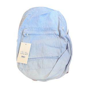 New Aili Artisan Jeans light wash denim back pack